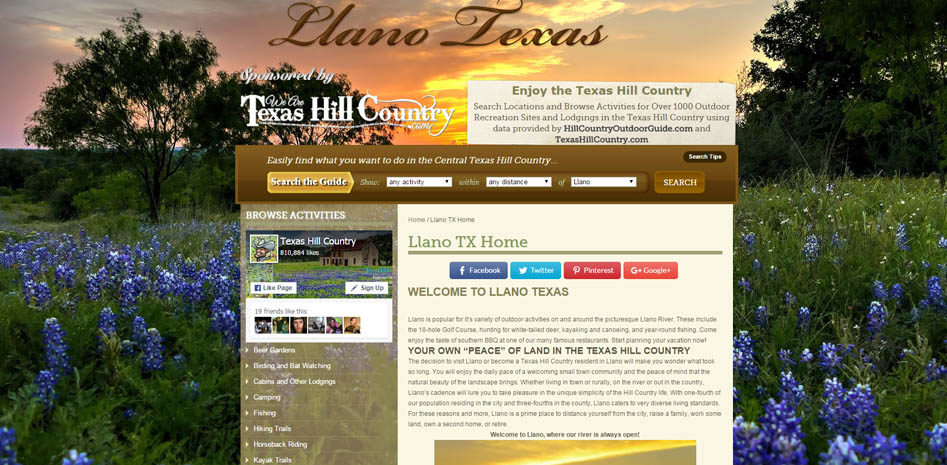 Hill Country City Websites